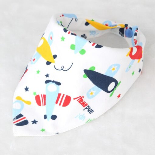 Washable Bib Cotton Soft Convenient Baby Saliva Bibs Triangular Towel Funny Design Cute Cartoon Design Non 3