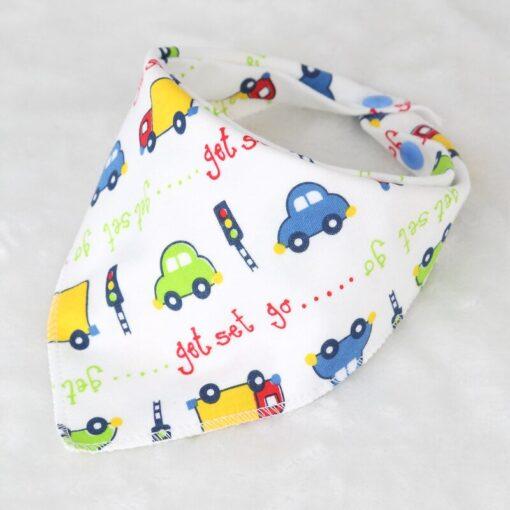 Washable Bib Cotton Soft Convenient Baby Saliva Bibs Triangular Towel Funny Design Cute Cartoon Design Non 4