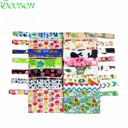 Washable Nursing Pads Wet Bags Nappy Bags Single Zippers Sanitary Pads Waterproof Wet Dry Wetbag Bags
