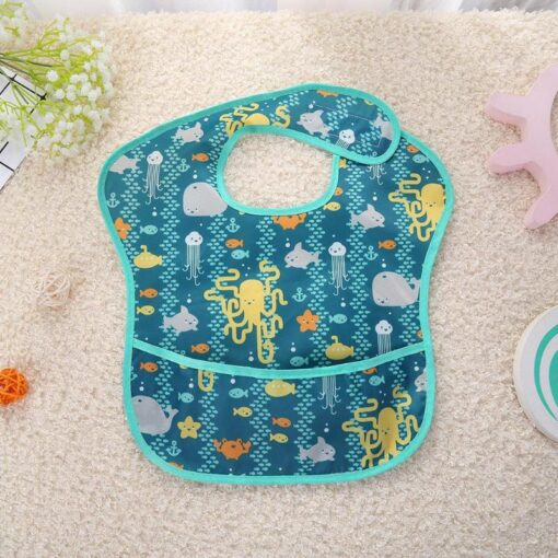 Waterproof Newborn Baby Feeding Apron Infants Bibs Burp Cloth Toddler Meals Pocket Bibs Cartoon Kids Feeding 3