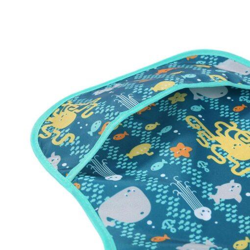 Waterproof Newborn Baby Feeding Apron Infants Bibs Burp Cloth Toddler Meals Pocket Bibs Cartoon Kids Feeding 5