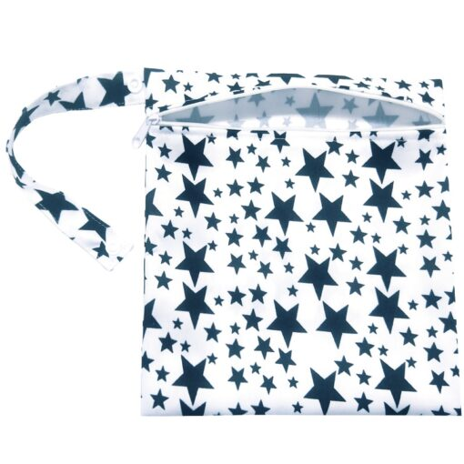 Waterproof Wet Bag Fashion Prints Wet Dry Diaper Bag Pocket Nappy Wetbags Reusable PUL Travel Wet 3
