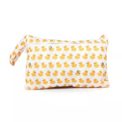 Waterproof reusable wet bag printed pocket diaper bag PUL travel dry wet bag mini diaper bag 2