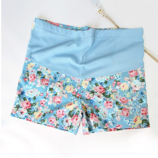 Wheat Turtle 2020 Summer Flower Shorts For Maternity Ultra Thin Hot Pants For Pregnant Women 4