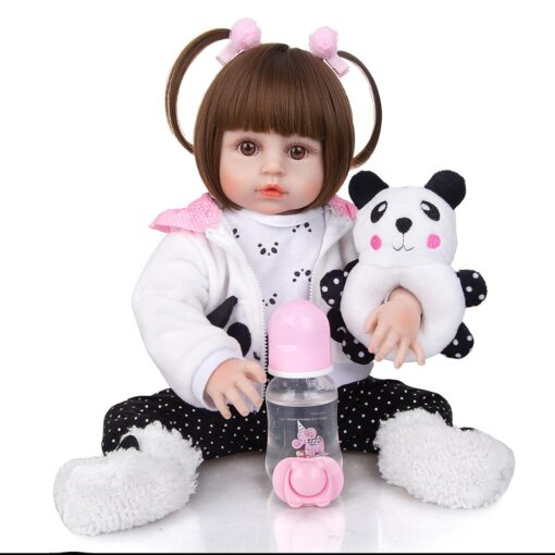 Wholesale KEIUMI Full Silicone Vinyl Reborn Baby Dolls Fashion Waterproof Doll Baby Toy For Kids Birthday 1