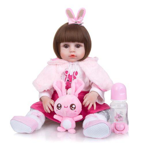 Wholesale KEIUMI Full Silicone Vinyl Reborn Baby Dolls Fashion Waterproof Doll Baby Toy For Kids Birthday 2