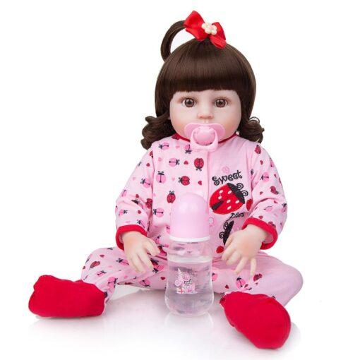 Wholesale KEIUMI Full Silicone Vinyl Reborn Baby Dolls Fashion Waterproof Doll Baby Toy For Kids Birthday 3