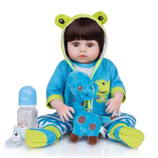 Wholesale KEIUMI Full Silicone Vinyl Reborn Baby Dolls Fashion Waterproof Doll Baby Toy For Kids Birthday 5