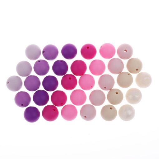 Whosale 12mm Round Silicone Beads 200 Pieces BPA Free Silicone Baby Teether Teething Jewelry Babies Pacifier 1