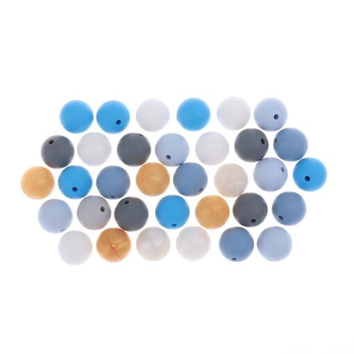 Whosale 12mm Round Silicone Beads 200 Pieces BPA Free Silicone Baby Teether Teething Jewelry Babies Pacifier 3