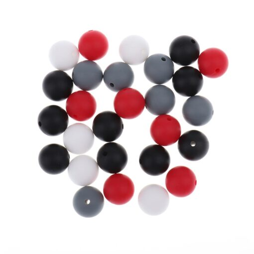 Whosale 12mm Round Silicone Beads 200 Pieces BPA Free Silicone Baby Teether Teething Jewelry Babies Pacifier 4