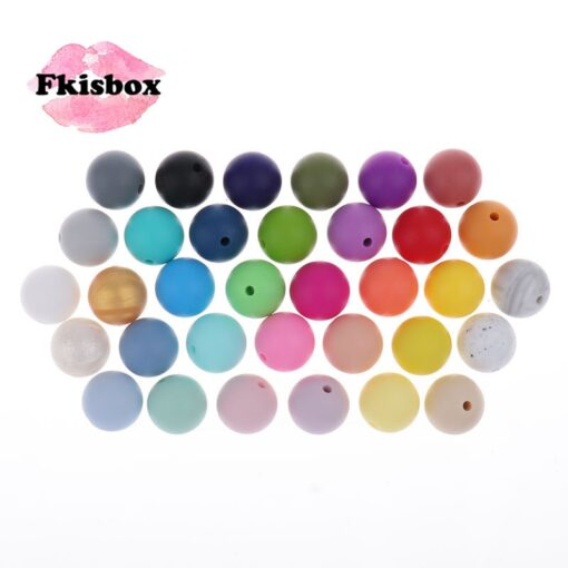 Whosale 12mm Round Silicone Beads 200 Pieces BPA Free Silicone Baby Teether Teething Jewelry Babies Pacifier