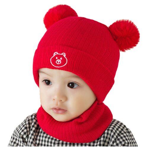Winter Warm Hat Toddler Kids Baby Boys Girl Pompon Hat Winter Warm Knit Crochet Beanie Cap 1