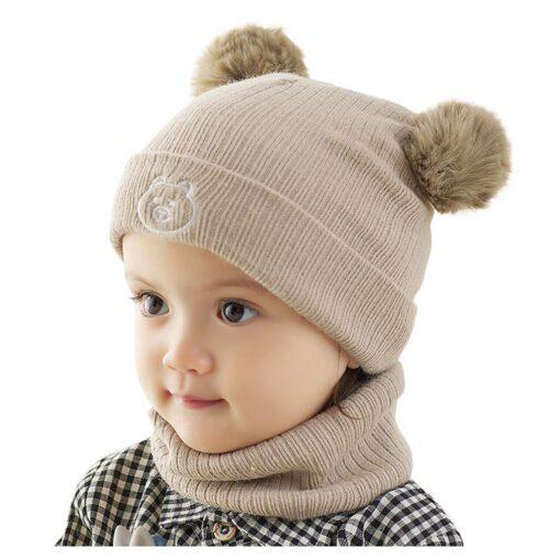 Winter Warm Hat Toddler Kids Baby Boys Girl Pompon Hat Winter Warm Knit Crochet Beanie Cap 3