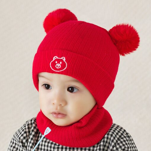 Winter Warm Hat Toddler Kids Baby Boys Girl Pompon Hat Winter Warm Knit Crochet Beanie Cap 4