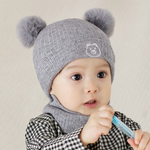 Winter Warm Hat Toddler Kids Baby Boys Girl Pompon Hat Winter Warm Knit Crochet Beanie Cap 5