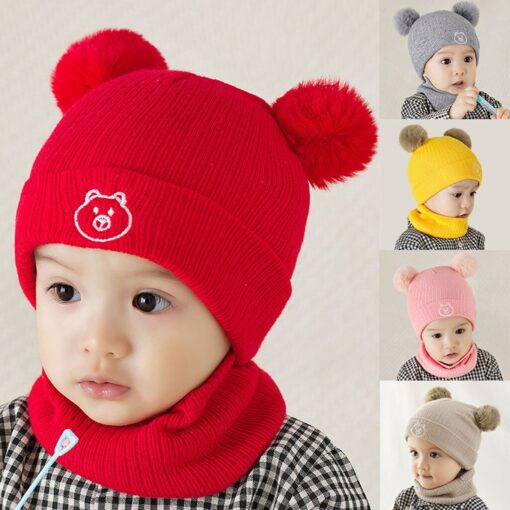 Winter Warm Hat Toddler Kids Baby Boys Girl Pompon Hat Winter Warm Knit Crochet Beanie Cap