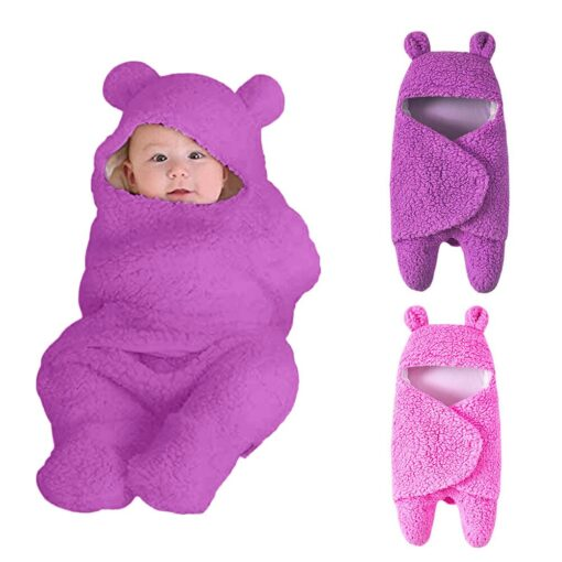 Winter baby blankets newborn Baby Boy Girl Cute Warm Sleeping Blanket Solid Cartoon Wrap Soft Cotton 2