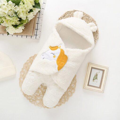 Winter baby blankets newborn Baby Boy Girl Cute Warm Sleeping Blanket Solid Cartoon Wrap Soft Cotton 3