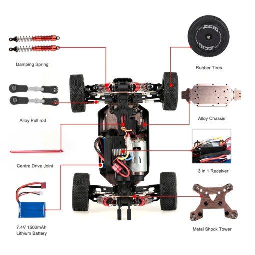 Wltoys XKS 144001 1 14 RC Car 60Km h High Speed RC Racing Car 2 4GHz 2