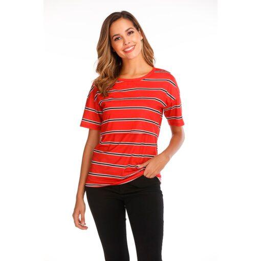 Women Maternity Short Sleeve Striped Nursing Tops T shirt For Breastfeeding Breastfeeding Tops Loose Maternity Clothing 1