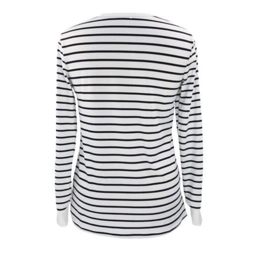 Women Mom Pregnant Casual Striped Long Sleeve Tops Breastfeeding Tops Ladies T Shirt Loose Pregnancy Loose 1