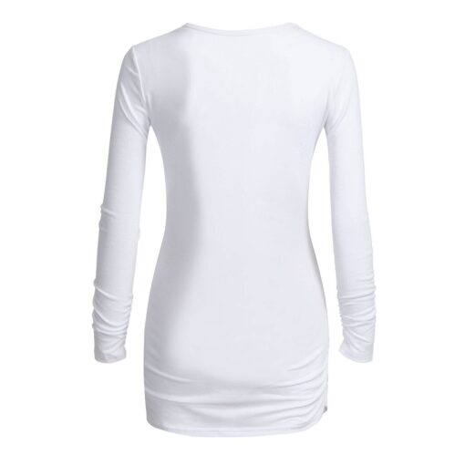 Women s Maternity Clothes Long Sleeves O neck Cartoon Penguin Tops Pregnancy T shirt Clothes Christmas 2