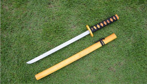 Wood Japan samurai sword wool sword singlestick mudao toy show props Katana Child play PK fencing 3