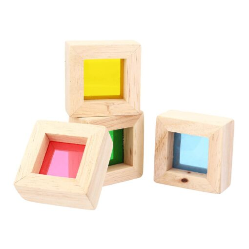 Wooden Blocks Construction Building Toy Stacking Rainbow Blocks Colorful Cognitive Toys Montessori Kids Gifts 24Pcs Set 4