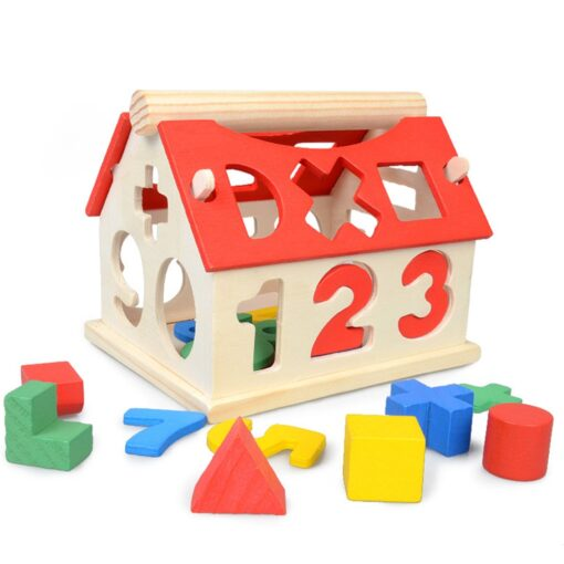 Wooden Geometric Shapes Montessori Puzzle Sorting Math Bricks Preschool Learning Educational Game Baby Toddler Toys for 2