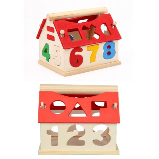 Wooden Geometric Shapes Montessori Puzzle Sorting Math Bricks Preschool Learning Educational Game Baby Toddler Toys for 3