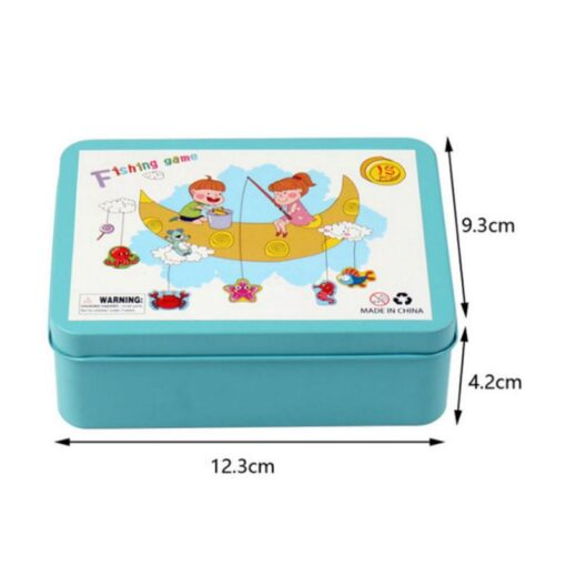 Wooden Magnetic Fish Toys Kids Educational Fishing Magnet Puzzle Game Intelligence Gifts Iron box Parent child 3
