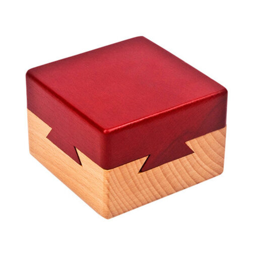Wooden Puzzle Box with Secret Drawer Magic Compartment Brain Teaser Wooden Toys Puzzles Boxes Kids Wood 2