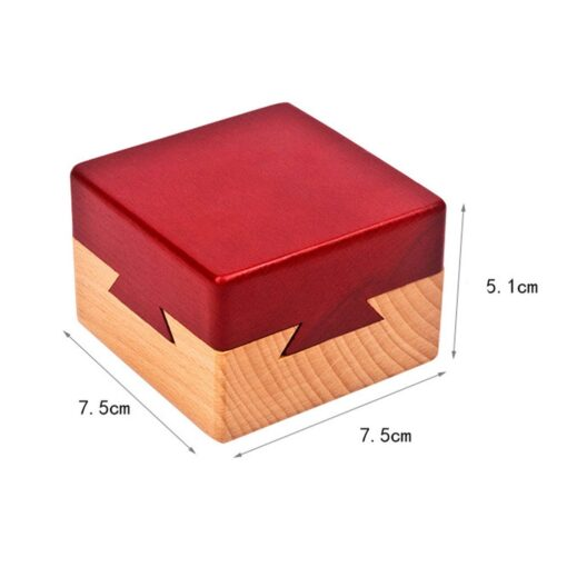 Wooden Puzzle Box with Secret Drawer Magic Compartment Brain Teaser Wooden Toys Puzzles Boxes Kids Wood 4