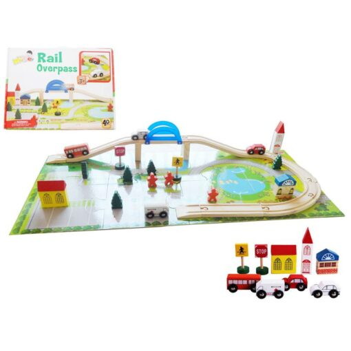 Wooden Toy Small Train Track Car Puzzles Play House Children s Educational Early Childhood Education Toy 2
