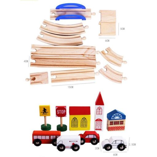 Wooden Toy Small Train Track Car Puzzles Play House Children s Educational Early Childhood Education Toy 4