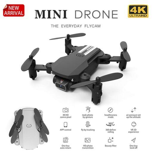 XKJ 2020 New Mini Drone 4K 1080P HD Camera WiFi Fpv Air Pressure Altitude Hold Black 1