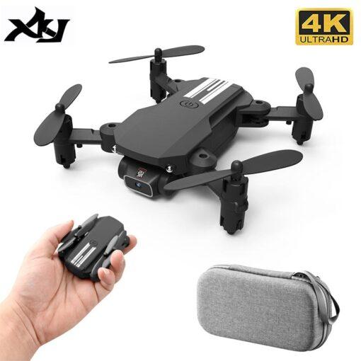 XKJ 2020 New Mini Drone 4K 1080P HD Camera WiFi Fpv Air Pressure Altitude Hold Black