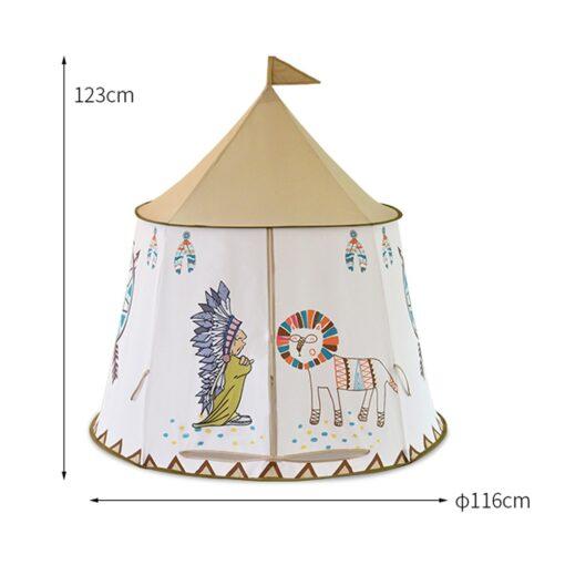 YARD Kid Tent House Portable Princess Castle 123 116cm Present Hang Flag Children Teepee Tent Play 1