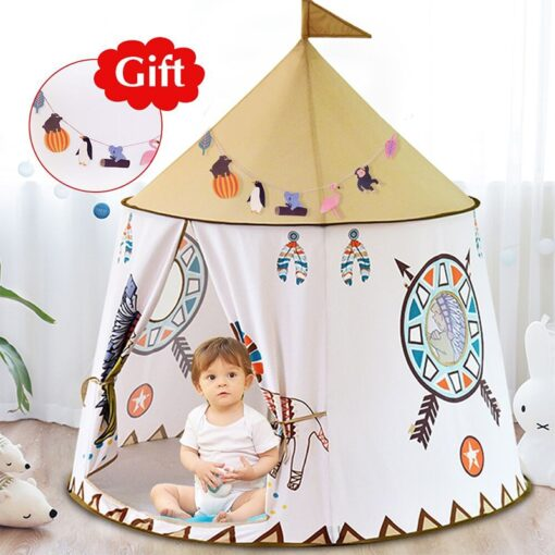 YARD Kid Tent House Portable Princess Castle 123 116cm Present Hang Flag Children Teepee Tent Play