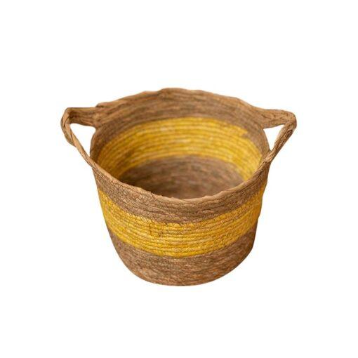 Yellow Children s Studio Woven Basket Newborn Photography Props Basket Baby Photo Weaving Frame Infant Basket 1