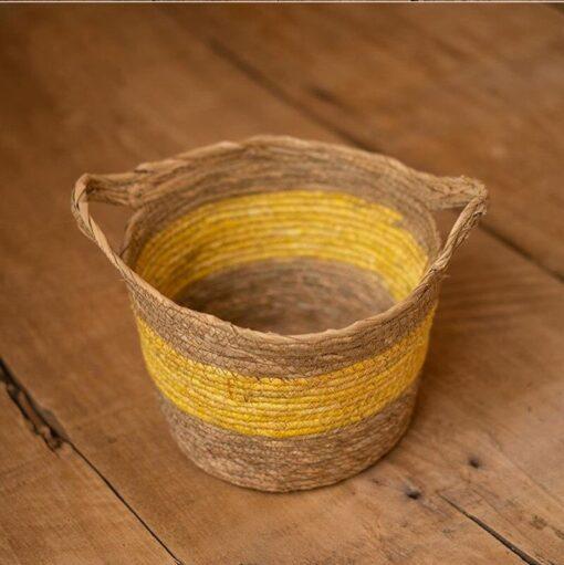Yellow Children s Studio Woven Basket Newborn Photography Props Basket Baby Photo Weaving Frame Infant Basket 4