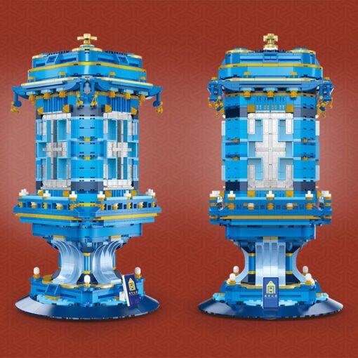 Yeshin 1216 Creative Toys The Chinese Enamel Palace Lantern Model Building Blocks Bricks Assembly Bricks Kids 4