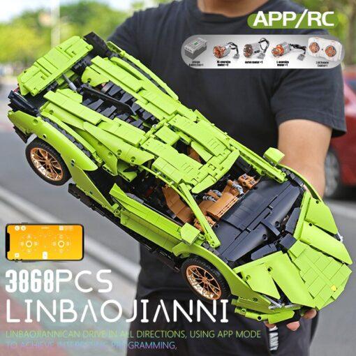 Yeshin 13056 13057 Technic Car Compatible Lamborghinis Si n FKP 37 Motor Car Model Building Blocks 2