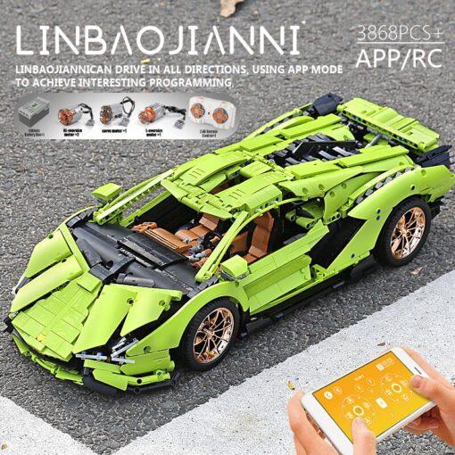 Yeshin 13056 13057 Technic Car Compatible Lamborghinis Si n FKP 37 Motor Car Model Building Blocks 3
