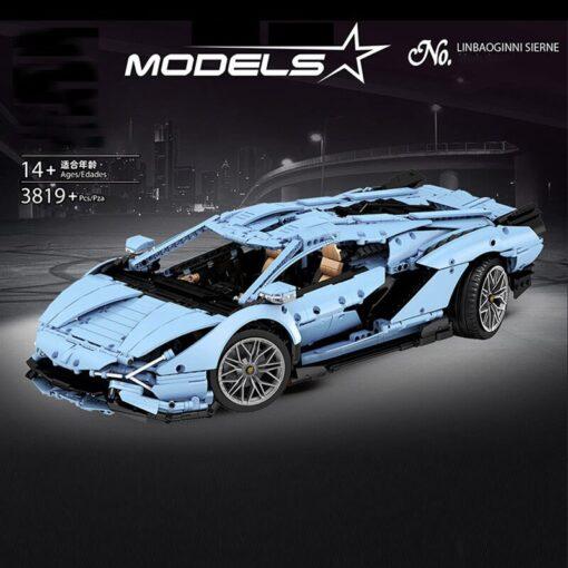 Yeshin 13056 13057 Technic Car Compatible Lamborghinis Si n FKP 37 Motor Car Model Building Blocks 5