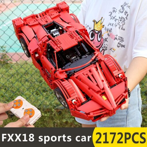Yeshin 13085 Motor Function Car The 1 8 Red FXX Racing Sport Car Set 2 4Ghz 1