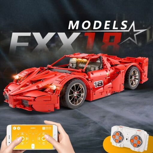Yeshin 13085 Motor Function Car The 1 8 Red FXX Racing Sport Car Set 2 4Ghz 2