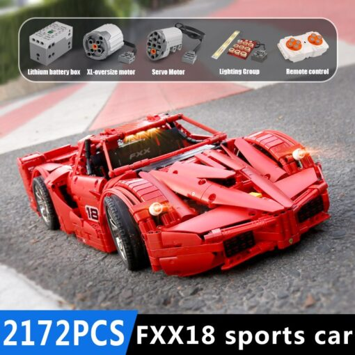 Yeshin 13085 Motor Function Car The 1 8 Red FXX Racing Sport Car Set 2 4Ghz 3