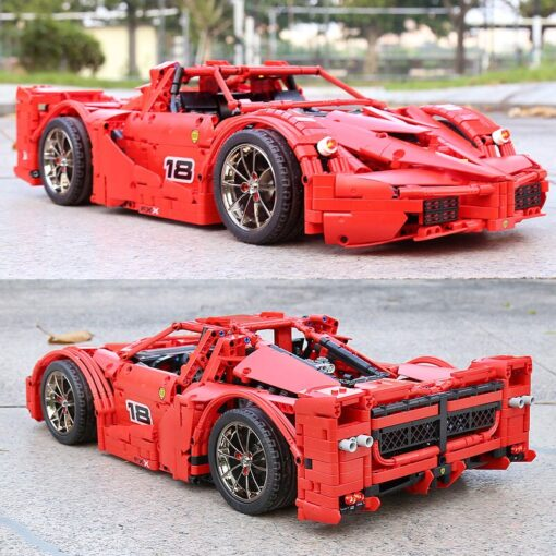 Yeshin 13085 Motor Function Car The 1 8 Red FXX Racing Sport Car Set 2 4Ghz 4